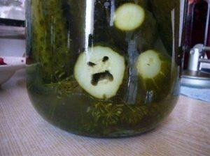 pepino enfadado