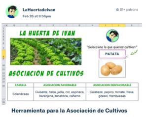 herramienta asociación de cultivos
