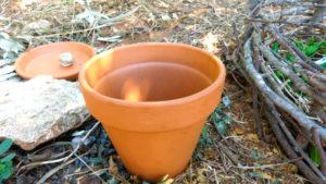 Sistema de Riego con recipientes de barro